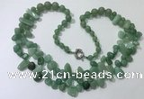 CGN543 27 inches fashion green aventurine beaded necklaces