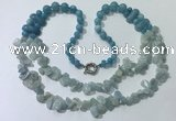 CGN544 27 inches fashion mixed gemstone beaded necklaces
