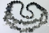 CGN545 27 inches fashion mixed gemstone beaded necklaces