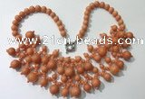CGN558 19.5 inches stylish 4mm - 12mm candy jade beaded necklaces
