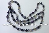 CGN652 22 inches chinese crystal & striped agate beaded necklaces
