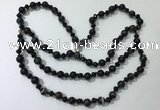 CGN659 22 inches chinese crystal & striped agate beaded necklaces