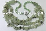 CGN672 22 inches stylish prehnite beaded necklaces wholesale