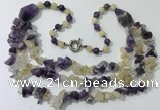 CGN673 22 inches stylish mixed gemstone beaded necklaces wholesale