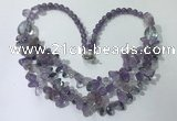 CGN696 22.5 inches chinese crystal & amethyst beaded necklaces