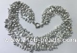 CGN730 19.5 inches stylish 6 rows white howlite chips necklaces