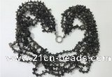 CGN732 19.5 inches stylish 6 rows labradorite chips necklaces