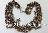 CGN735 19.5 inches stylish 6 rows mookaite chips necklaces