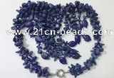 CGN836 20 inches stylish blue spot stone statement necklaces