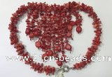 CGN838 20 inches stylish coral statement necklaces wholesale