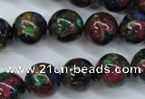 CGO09 15.5 inches 20mm round gold multi-color stone beads
