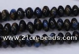 CGO181 15.5 inches 5*8mm rondelle gold blue color stone beads