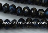 CGO185 15.5 inches 8*12mm faceted rondelle gold blue color stone beads