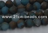 CGO256 15.5 inches 6mm round matte gold multi-color stone beads