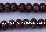 CGO72 15.5 inches 8*12mm rondelle gold red color stone beads