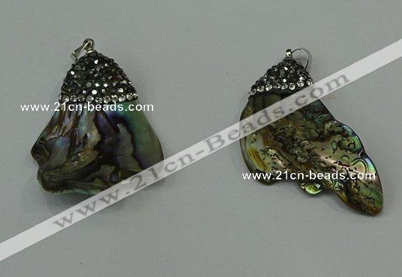 Cgp304 2040mm 2535mm freeform abalone shell pendants wholesale aloadofball Image collections