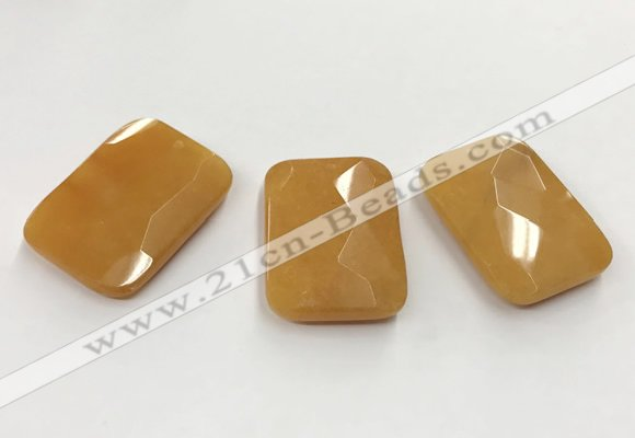 CGP3606 32*45mm faceted rectangle candy jade pendants wholesale
