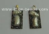 CGP383 20*40mm rectangle pearl pendants wholesale