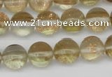 CGQ60 15.5 inches 8mm round gold sand quartz beads wholesale