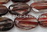 CGQ78 15.5 inches 18*25mm faceted oval red gold sand quartz beads