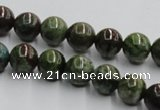 CGR03 16 inches 10mm round green rain forest stone beads wholesale
