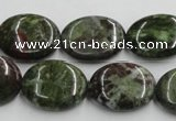 CGR11 16 inches 15*20mm oval green rain forest stone beads wholesale