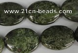 CGR28 15.5 inches 18*25mm oval green rain forest stone beads