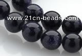 CGS02 15 inches 10mm round blue goldstone beads Wholesale
