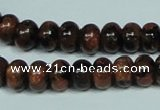 CGS207 15.5 inches 7*10mm rondelle blue & brown goldstone beads wholesale