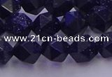 CGS457 15.5 inches 8mm faceted nuggets goldstone beads wholesale