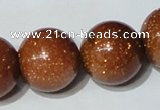 CGS56 15.5 inches 20mm round goldstone beads wholesale