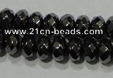 CHE103 15.5 inches 4*6mm faceted rondelle hematite beads wholesale