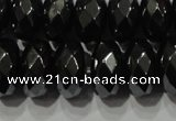 CHE105 15.5 inches 6*10mm faceted rondelle hematite beads wholesale