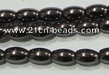 CHE137 15.5 inches 4*6mm rice hematite beads wholesale
