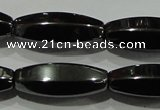 CHE141 15.5 inches 8*20mm faceted rice hematite beads wholesale