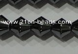 CHE212 15.5 inches 8*8mm bicone hematite beads wholesale