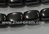 CHE249 15.5 inches 8*12mm cuboid hematite beads wholesale