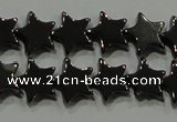 CHE293 15.5 inches 6mm star hematite beads wholesale
