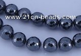 CHE33 16 inches 6mm faceted round hematite beads Wholesale