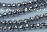 CHE424 15.5 inches 6mm round plated hematite beads wholesale
