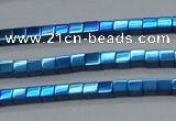 CHE455 15.5 inches 2*2mm cube plated hematite beads wholesale