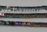CHE562 15.5 inches 1*2*2mm square plated hematite beads wholesale
