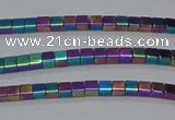 CHE603 15.5 inches 3*3mm cube plated hematite beads wholesale