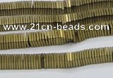 CHE633 15.5 inches 1*4*4mm square matte plated hematite beads
