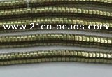 CHE652 15.5 inches 1*3mm tyre plated hematite beads wholesale