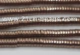 CHE653 15.5 inches 1*3mm tyre plated hematite beads wholesale