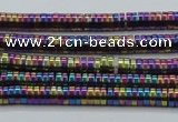 CHE667 15.5 inches 1*4mm tyre plated hematite beads wholesale