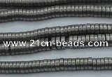CHE670 15.5 inches 1*2mm tyre matte plated hematite beads