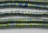 CHE673 15.5 inches 1*2mm tyre matte plated hematite beads