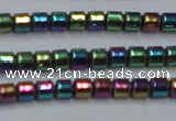 CHE780 15.5 inches 2*2mm drum plated hematite beads wholesale
